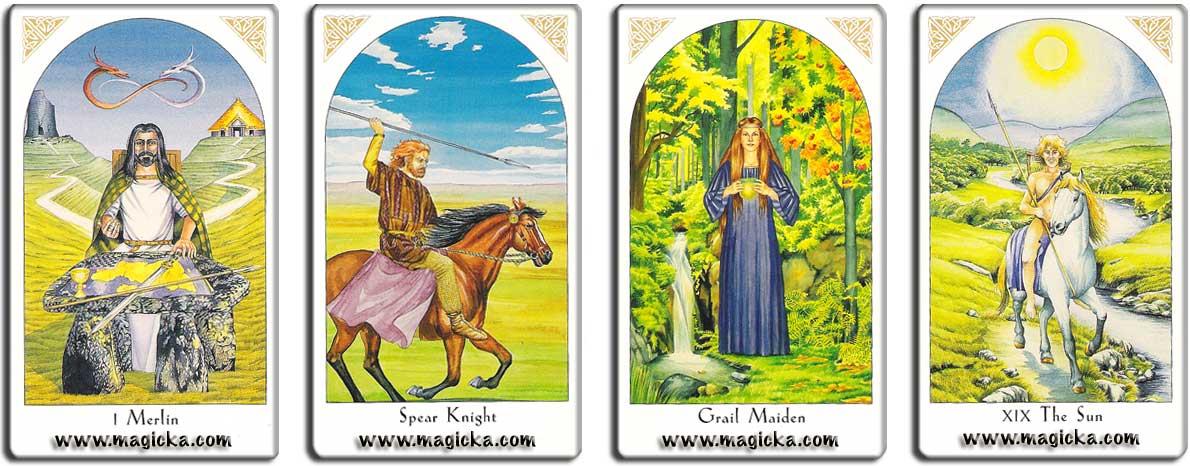 Tarot de la légende du Roi Arthur jeu