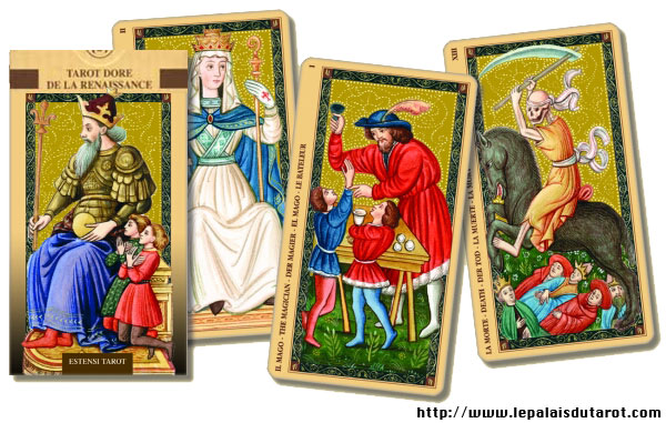 Tarot doré de la Renaissance jeu
