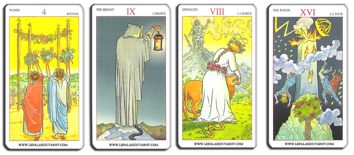 mini new vision tarot lo scarabeo